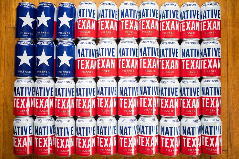 Native Texan Beer cans