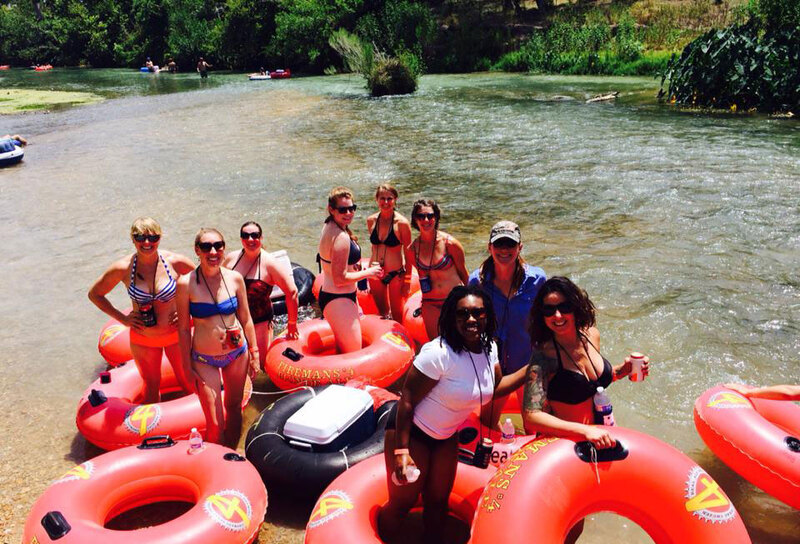 Bachelorette party on the river