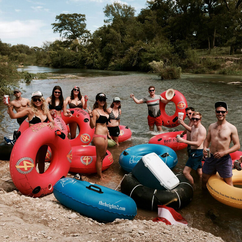 Guys and girls tubing